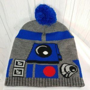 Star Wars R2-D2 Knit Pom Pom Beanie Unisex   J76S5